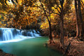 Wonderful deep forest waterfall kanchanaburi thailand Stock Photos