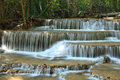 Wonderful deep forest waterfall kanchanaburi thailand Royalty Free Stock Photo