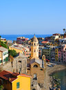 Wonderful evening in Vernazza village Stock Photography