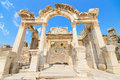 Wonderful hadrian temple ephesus turkey in the ancient city of Stock Images
