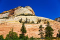 Wonderful landscape around mt carmel zion national park parc seen from highway utah Royalty Free Stock Image