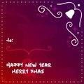 New Year Design Template. Vector Elements. Christmas Celebration Night Illustration. EPS10