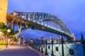 Wonderful night skyline of Sydney, Australia Royalty Free Stock Photo