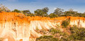 Wonderful orange colors sunset marafa canyon also said hell s kitchen malindi region kenya Stock Photo
