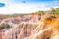 Wonderful orange colors at sunset in marafa canyon also said the hell s kitchen malindi region kenya Stock Photos