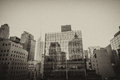Wonderful panorama of new york buildings from a manhattan roofto rooftop Royalty Free Stock Photography