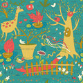 Wonderful Spring Garden Seamless Pattern Royalty Free Stock Photo