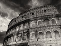 Wonderful view of colosseum in all its magnificence autumn sunset rome italy Stock Photos