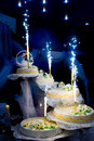 Wonderful wedding cake Stock Image