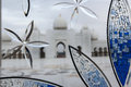 Wonderful white sheikh zayed mosque at abu dhabi uae Stock Photo