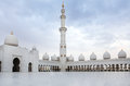 Wonderful white sheikh zayed mosque at abu dhabi uae Royalty Free Stock Image