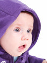 Wondering cute baby little portrait Royalty Free Stock Photo