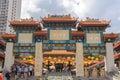 Wong tai sin temple in hong kong front gate of Royalty Free Stock Photos