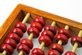Wood abacus closeup Stock Photos