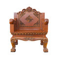 Wood armchair Royalty Free Stock Images