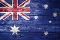 Wood Australian Flag Background Royalty Free Stock Photo