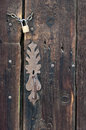 Wood background closeup of a wooden door Royalty Free Stock Photography