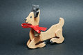Wood bambi a wooden christmas ornaments Stock Photography