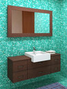 Wood bathroom Royalty Free Stock Photos