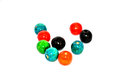 Wood beads a bead is a small decorative object that is formed in a variety of shapes and sizes of a material such as glass plastic Stock Image