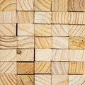 Wood block background with end grain Stock Photography