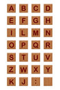 Wood Blocks Alphabet 2 Stock Photo