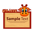 Wood board with giraffe for your design Royalty Free Stock Photo