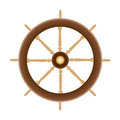 Wood Boat Ships Steering Wheel Royalty Free Stock Photo