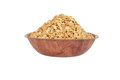 Wood bowl of granola Royalty Free Stock Photo