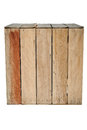 Wood box isolated big old Royalty Free Stock Photo