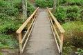 Wood bridge Stock Images