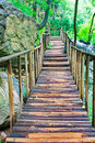 Wood bridge Royalty Free Stock Photo