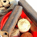 Wood briquettes Stock Image