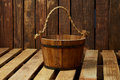 Wood bucket Royalty Free Stock Photo