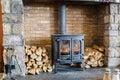 Wood Burning Stove Royalty Free Stock Photo
