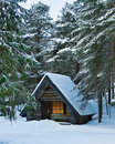 Wood cabin Stock Photography
