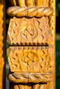 Wood carving specific of the maramures area romania Royalty Free Stock Image