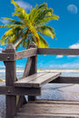 Wood chair at beauty beach Stock Photography