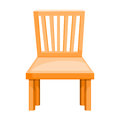 Wood chair isolated illustration on white background Royalty Free Stock Images