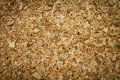 Wood chips at plywood processing plant Royalty Free Stock Photo
