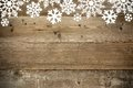 Wood Christmas Background With...