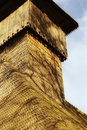 A wood church tower Royalty Free Stock Photos