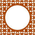 Wood circle frame Royalty Free Stock Image