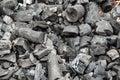 Wood coal background texture black Royalty Free Stock Image