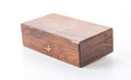 wood coffer Royalty Free Stock Photo