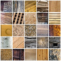 Wood collage Stock Image