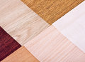 Wood color and texture samples Royalty Free Stock Image