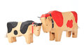 Wood cow toy Royalty Free Stock Photo