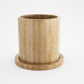 Wood cup of 3d rendering Stock Image