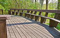 Wood Deck Design with Bench. Royalty Free Stock Images